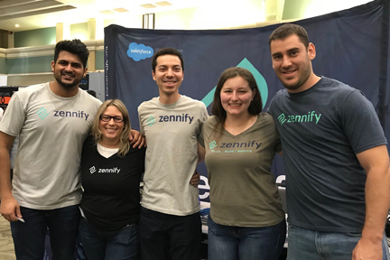 Team at event