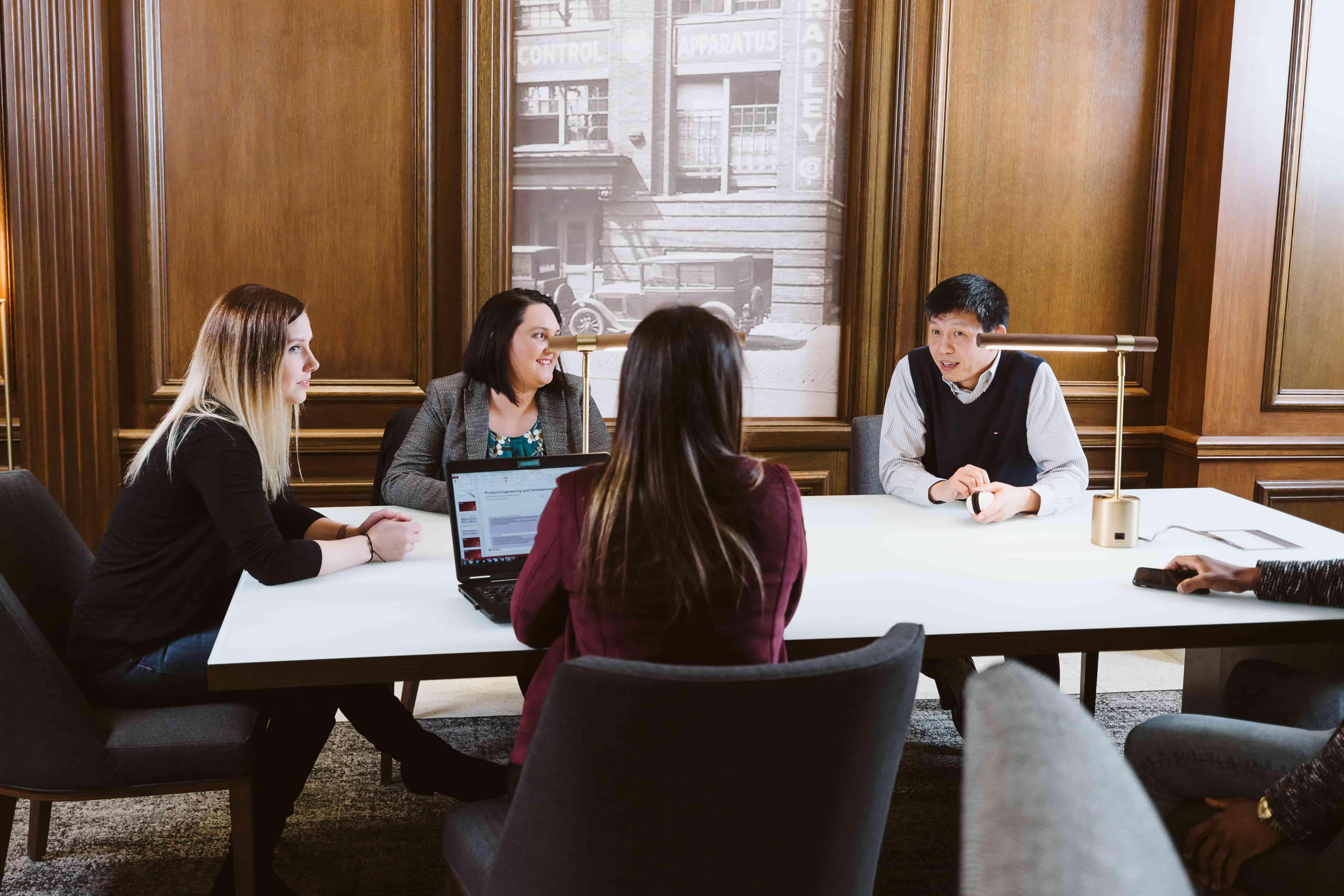Rockwell team meeting in boardroom